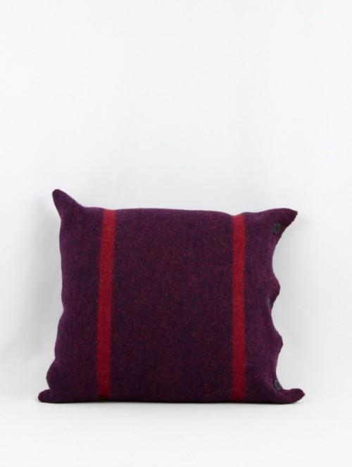 Coussin laine bordeaux