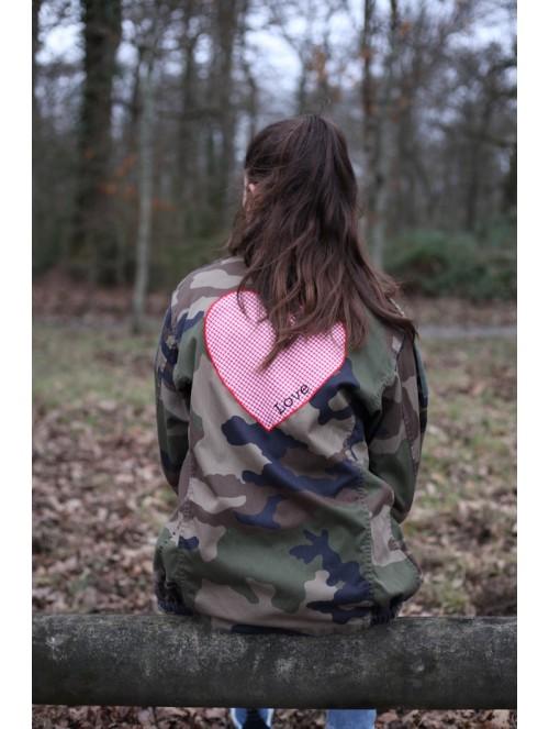 Veste coeur camouflage