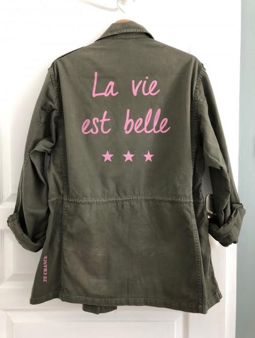 """Veste légère """"La vie est..."""