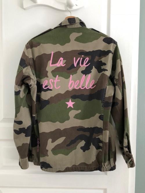 """Veste camouflage """"La vie..."""