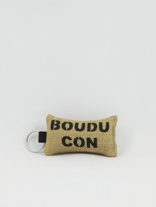 """Porte-clés """"31/boudu con"""" noir"""